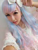 SMILE Wig Harajuku Fashion Ombre Cheap Cosplay Party Casual Young Types Full Long Curly For Sale Synthetic
