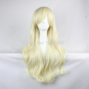 SMILE Wig 80 Cm High Quality Synthetic Hair Anime Cosplay Long Wavy Curly Party Natural Blonde Christmas