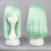 SMILE Feamle Green Wig Straight Hair Synthetic Cosplay Wig