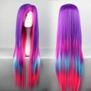 SMILE Popular Among world 80cm Long Multi Colour Cosplay Lolita Wig