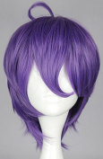 SMILE Purple Mixed KasenKanesada Short Straight Hair Girl Full Wigs Cosplay Party Wig