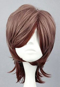 SMILE 35cm MSN multi colour heat resistant short synthetic wig