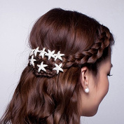 20 Pieces Bride Rhinestone Starfish Hair Pin for Beach Themed Wedding, Hair Stick Women Hair Accessories Hairpiece