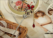 High Quality,5 Colours,crystal Antique Butterfly Hair Forks,hair Sticks,hair Chopsticks,wedding Hair Jewellery 3pieces/package