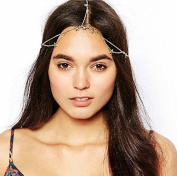 Nero Women's Bohemia 2 Tiers Head Chain for Casual, Party and Evening, Headpieces for Women