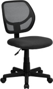 Flash Furniture WA-3074-GY-GG Mid-Back Grey Mesh Task and Computer Chair
