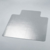 Universal 56807 110cm by 130cm Cleated Chair Mat for Low and Medium Pile Carpet, Clear