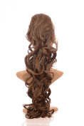 Mid Autumn Brown Long Curly Ponytail Hairpiece | Drawstring Ponytail | 60cm long