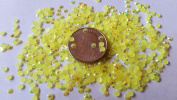 GoldenLiving168 Lemon Yellow AB Crystal 800pcs Round Jelly Rhinestone 4mm (16ss) 3D Acrylic Nail Art Decoration Cellphone Case (High Quality) USA SELLER! FAST SHIPPING!
