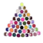 45 Colours Nail Art Make Up Body Glitter Shimmer Dust Powder Decoration