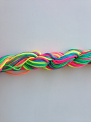 Rainbow Nylon Cord Braided 1.5mm 13 yards DIY