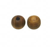 Amanteao 13.5mmX14mm Wood Beads Pack of 50