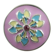 Chunk Snap Charm Purple Yellow Turquoise Colours