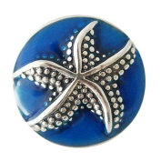 Chunk Snap Charm Metal Starfish 20mm