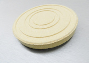 CERAMIC SOLDERING BOARD ROUND SILQUAR PLATE FLAT & GROOVED SURFACE jewellery 4-5/8