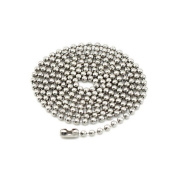 Beautiful Bead 50cm Men's Top Grade Stainless Steel Beaded Necklace Chain Accessary for Jewellery Making