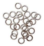 "SNAPEEZ® ""The Snapping Jump Ring"" - SNAPEEZ® II ULTRAPLATE® Grey Velvet Matte Ring Hard Open Jump 12mm Heavy Gauge"