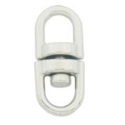 "Bluemoona 100 Pcs - Swivel Key ring Connectors Double Ended Clasp Clip 360 Degress 13x6mm 1/2"" x 1/4"""