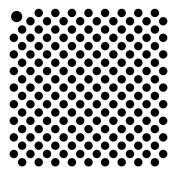 0.5cm Tight Dots Mini Pattern Stencil - 10cm x 10cm