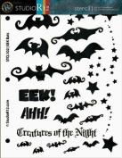 EEK Bats! Stencil - 1.3cm x 28cm