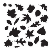Fall Leaves Mini Pattern Stencil - 10cm x 10cm