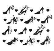 Pattern Stencil - Kick Up Your Heels - 22cm x 20cm