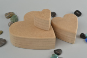 Set of handmade MDF craft blanks for painting and decoupage DIY 3 pieces