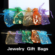 ACE 50 pcs Organza Jewellery Candy Pendent Mixed Colour Mini Gift Pouch Bags Wedding