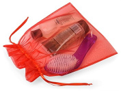 10 Large Organza Bags 25cm X 30cm Red Sheer Fabric Gift Pouch