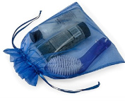 10 Large Organza Bags 25cm X 30cm Dark Blue Sheer Fabric Gift Pouch
