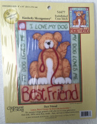 "Candamar Designs Cross Stitch ""Best Friend"""