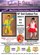 46cm Doll Outdoor Fun - In the Hoop - Machine Embroidery Designs