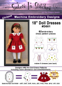 46cm Doll Dresses - In the Hoop - Machine Embroidery Designs