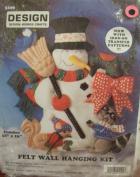 Design Works Craft Snowman Felt Wall Hanging Kit