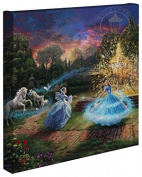 Cinderella Wishes Granted - Thomas Kinkade Studios Disney Gallery Wrapped Canvas