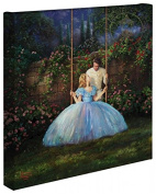 Cinderella Dreams Come True - Thomas Kinkade Studios Disney Gallery Wrapped Canvas