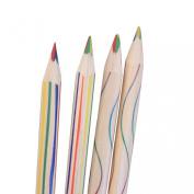 Sunward 10pcs Rainbow Colour Pencil 4 in 1 Coloured Pencils