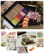 Home Office U.D. - Art Supplies Professional Assorted Bulk Painting in Tin Coloured Pencils Drawing for Adults 24 Count