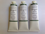Oxide of chromium green,extrafine oil paints(three handmade oil colour tubes 60ml each).