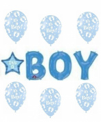 Its a Boy Letter Bunch Balloon Set
