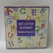 Dot Letter Alphabet Rubber Stamps,30 pc Wood Block Rubber Stamps by Hero Arts