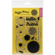 Waffle Flower Crafts Clear Stamps 10cm x 15cm -Flower Circles