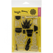 Waffle Flower Crafts Clear Stamps 10cm x 15cm -Planted
