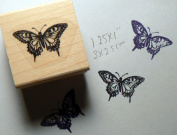 Miniature butterfly rubber stamp