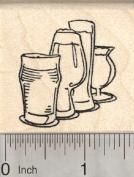 Craft Beer Rubber Stamp, Pilsner Glasses