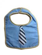 Modern Baby Accessories Bib with hook and loop Closure, Blue Striped Tie