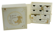 My Special Beige Keepsake Box Baby Gift with Multiple Drawers By Haysom Interiors