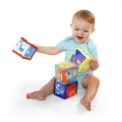 Bright Starts Grab and Stack Blocks Developmental Baby Toy for 3 Months & Up