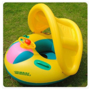 2015 New Baby Swim Ring Inflatable Toddler Swimming Pool Float Seat with Canopy