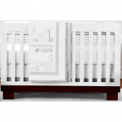 Just Born's Animal Kingdom 3 Piece Crib Bedding Set